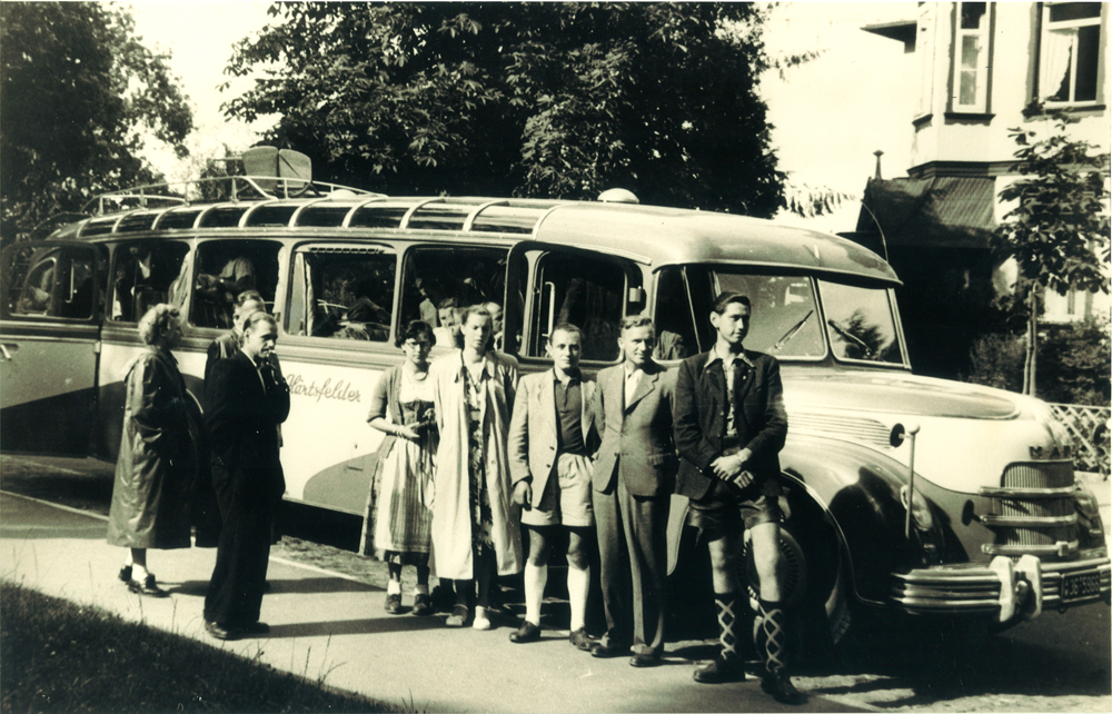 1949: Erste Ausfahrt an den Bodensee mit einem MAN
