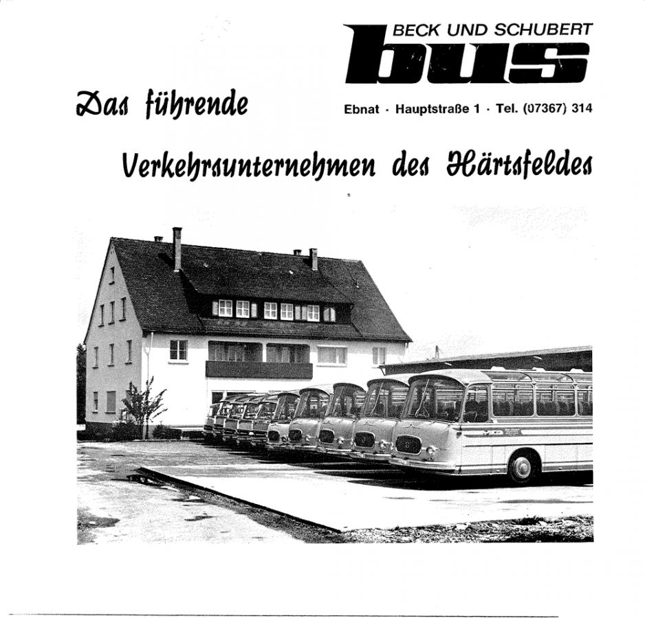1966: Der Fuhrpark besteht aus Busse der Marken Mercedes-Benz und SETRA