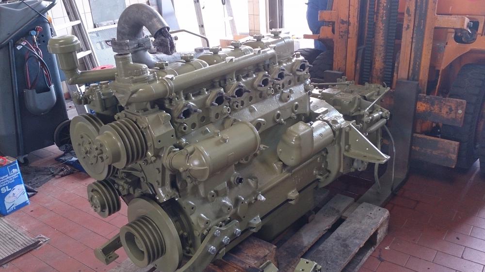 Endlich: Der Motor ist nach über 10 Monate Restauration wieder zurück